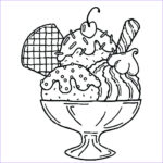 Ice Cream Coloring Pages Best Of Photos Ice Cream Sundae Drawing at Getdrawings