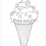 Ice Cream Cones Coloring Page Awesome Images Ice Cream Cone Coloring Page