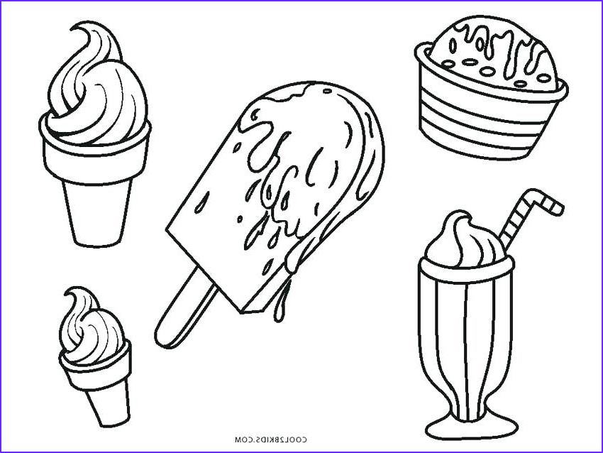 Ice Cream Cones Coloring Page Beautiful Images Ice Cream Drawing at Getdrawings