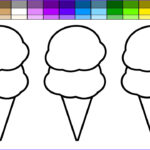Ice Cream Cones Coloring Page Best Of Photography Learn Colors For Kids And Color Beach Double Ice Cream
