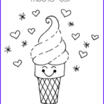 Ice Cream Cones Coloring Page Cool Images Ice Cream Coloring Pages