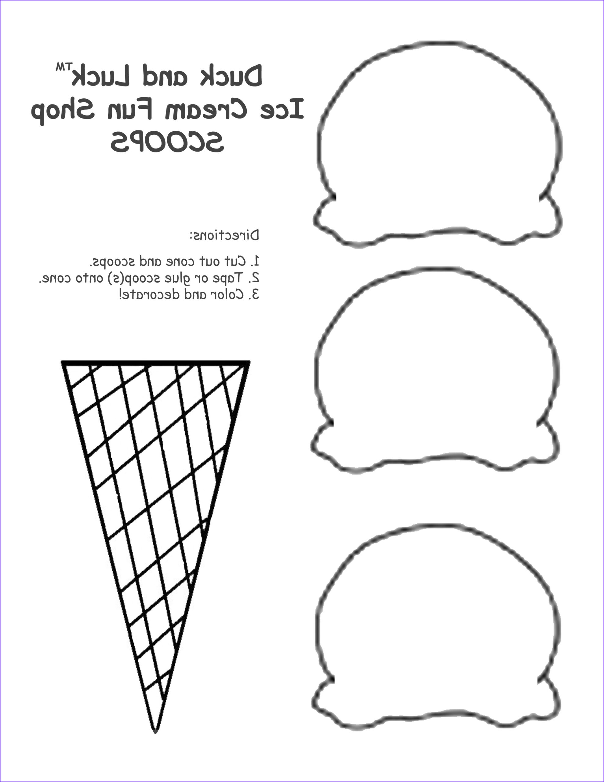 Ice Cream Cones Coloring Page Cool Photos 13 Best S Of Ice Cream Template Printable Ice Cream