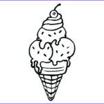 Ice Cream Cones Coloring Page Inspirational Photos The Best Free Scoop Drawing Images Download From 144 Free