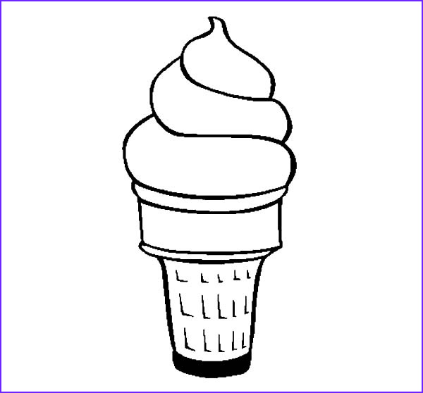 Ice Cream Cones Coloring Page Unique Stock Ice Cream Cone Free Coloring Pages