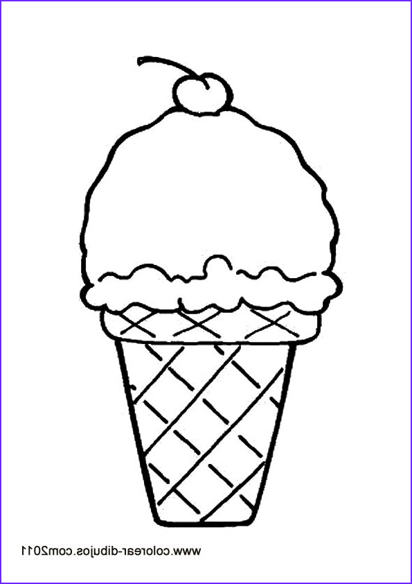 Icecream Cone Coloring Pages Beautiful Image Ice Cream Free Coloring Pages