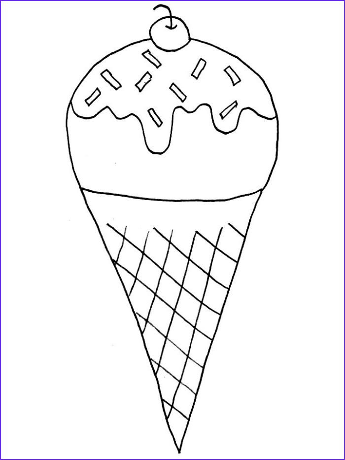 Icecream Cone Coloring Pages Cool Collection Free Printable Ice Cream Coloring Pages for Kids