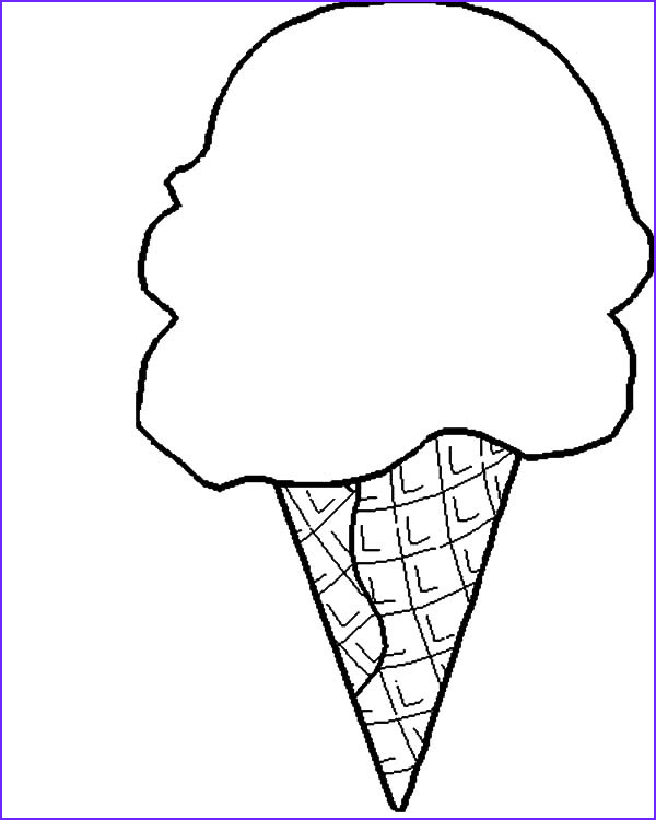 Icecream Cone Coloring Pages Cool Photos Cute Ice Cream Cone Drawing at Getdrawings