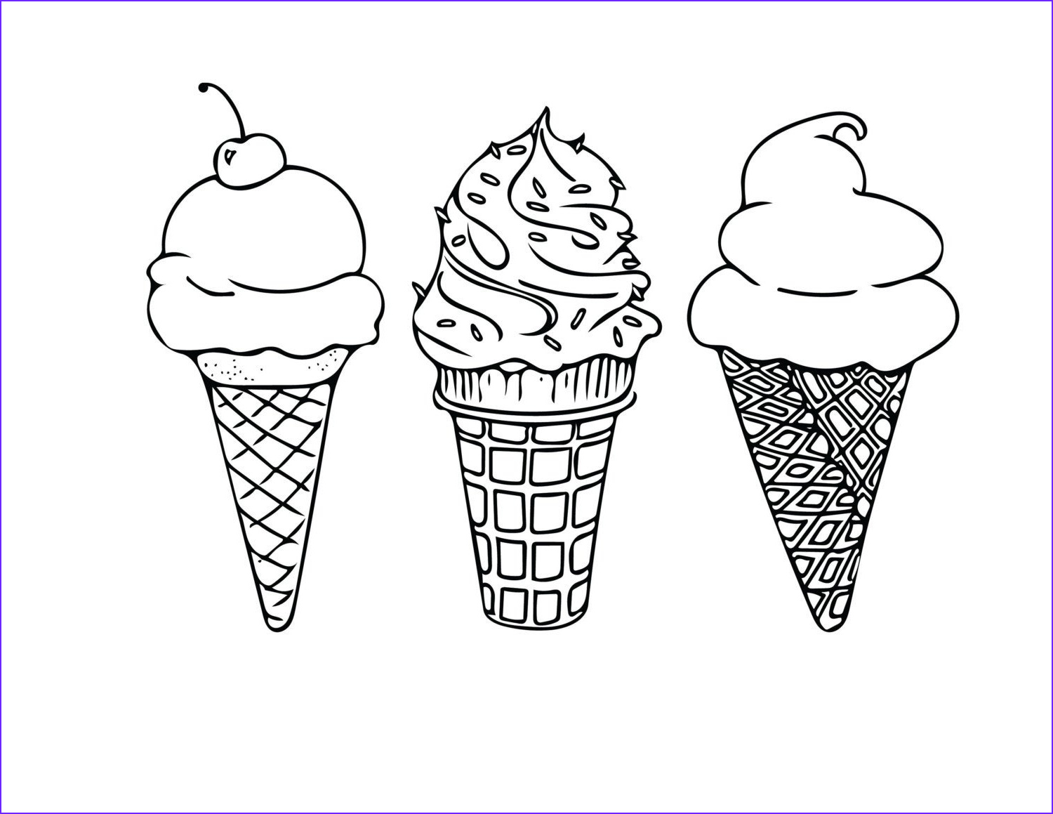 Icecream Cone Coloring Pages Elegant Gallery Printable Coloring Sheet Instant Download Ice Cream Cones