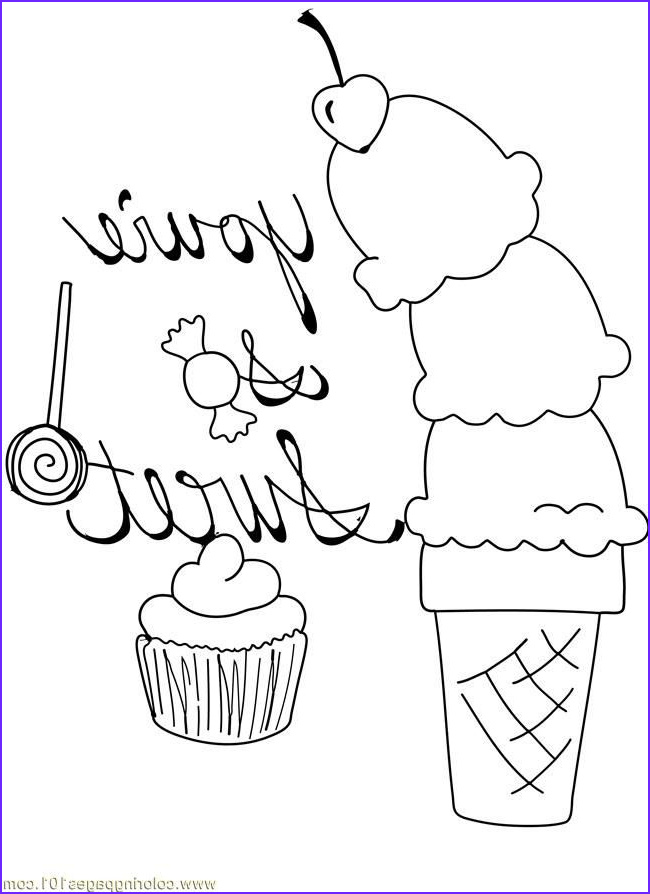 Icecream Cone Coloring Pages Luxury Photos Free Printable Ice Cream Coloring Pages for Kids