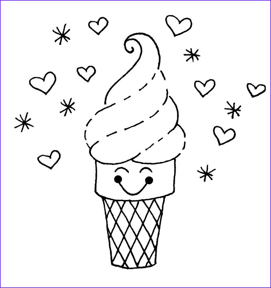 Icecream Cone Coloring Pages Unique Stock Free Printable Ice Cream Coloring Pages for Kids