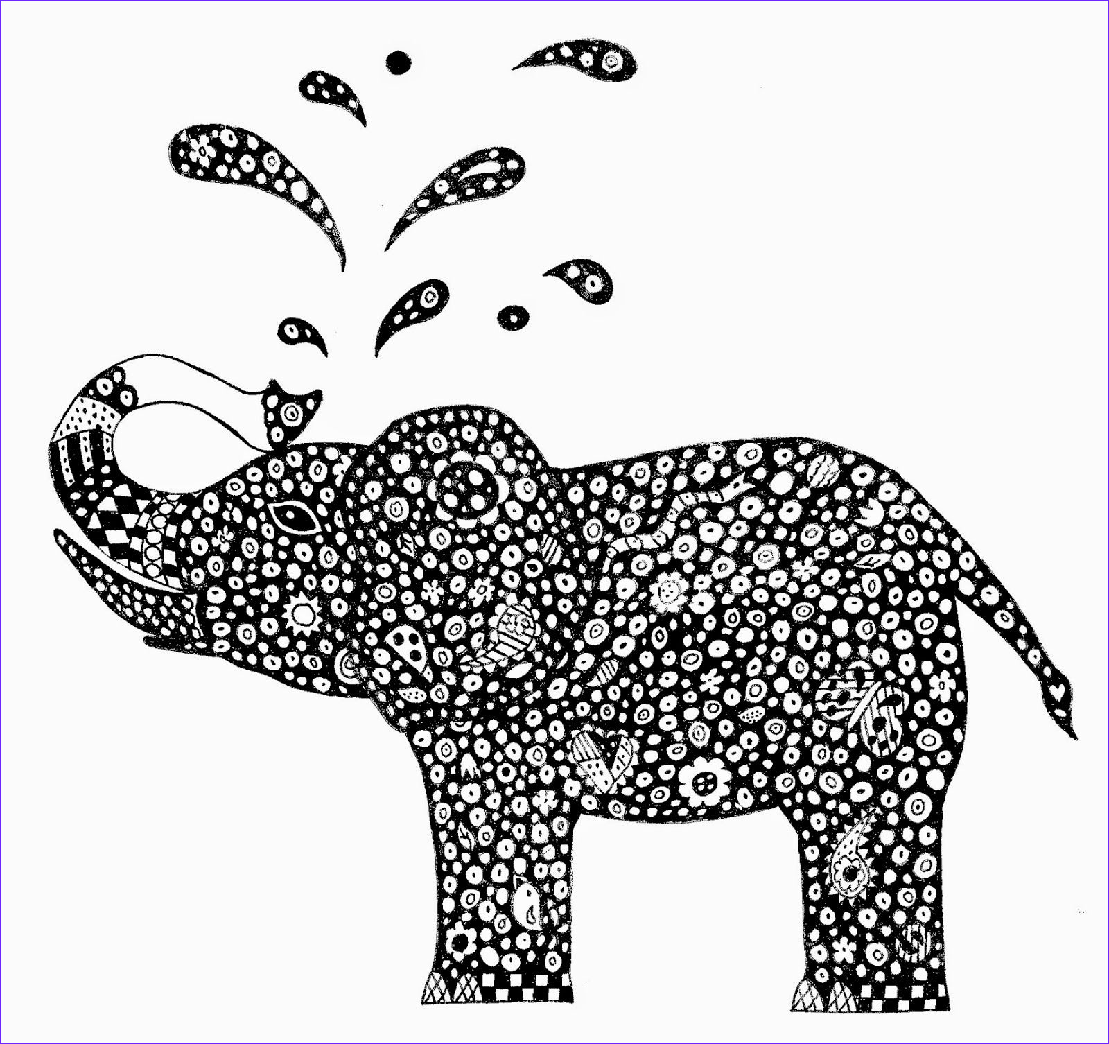 Indian Elephant Coloring Pages Printable Awesome Photos for Zentangle Animal Coloring Pages