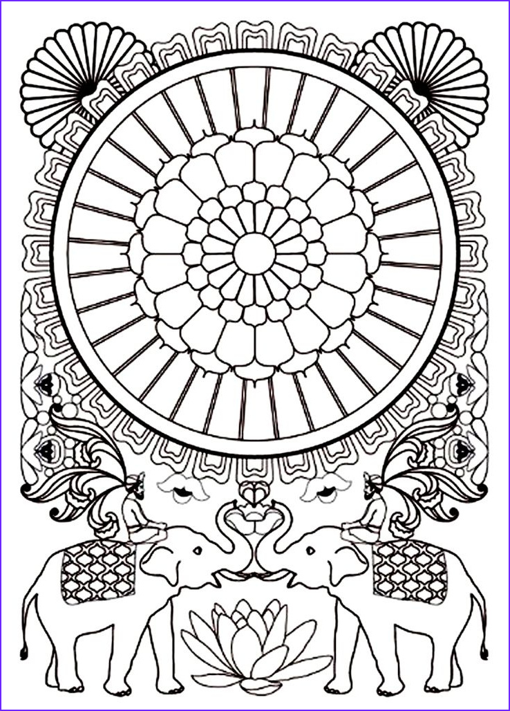 Indian Elephant Coloring Pages Printable Awesome Photos Free Coloring Page Coloring Adult India Elephants