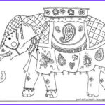 Indian Elephant Coloring Pages Printable Beautiful Photos Indian Elephant Colouring Page