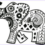 Indian Elephant Coloring Pages Printable Beautiful Photos Tribal Coloring Pages Coloring Home