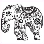 Indian Elephant Coloring Pages Printable Cool Image 11 Indian Elephant Tattoo Designs
