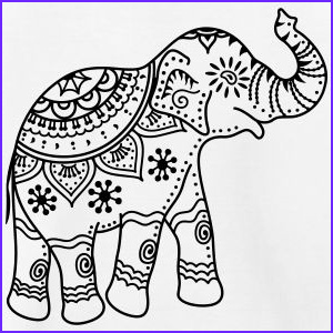 Indian Elephant Coloring Pages Printable Cool Images Decorated Indian Elephant Drawing Google Search