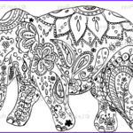 Indian Elephant Coloring Pages Printable Inspirational Gallery Henna Elephant Art