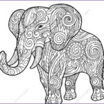 Indian Elephant Coloring Pages Printable New Gallery Indian Elephant Coloring Pages At Getcolorings