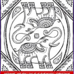 Indian Elephant Coloring Pages Printable New Gallery Indian Elephant From Sacred Symbols Adult Coloring Book
