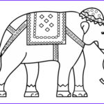 Indian Elephant Coloring Pages Printable New Images Indian Elephant Coloring Page