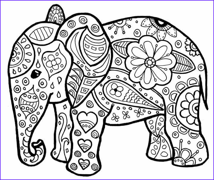 Indian Elephant Coloring Pages Printable Unique Collection Elephant Stuff to Color Pinterest