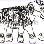 Indian Elephant Coloring Pages Printable Unique Image Indian Elephant Design Coloring Pages