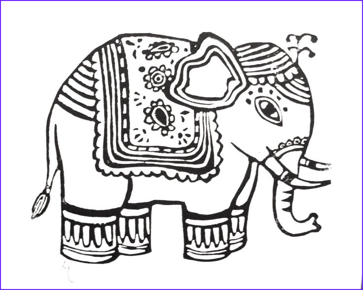 Indian Elephant Coloring Pages Printable Unique Photos Elephant Drawing Design Google Search