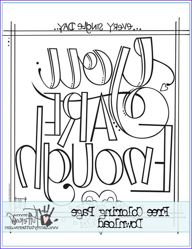 Inspirational Quotes Coloring Pages Best Of Stock 12 Inspiring Quote Coloring Pages for Adults–free Printables