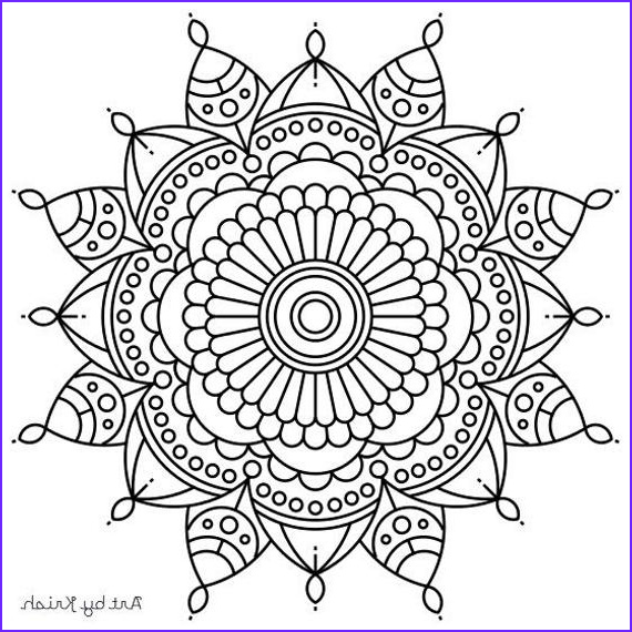 Intricate Coloring Book Awesome Images Items Similar to Mandala Adult Coloring Page 56 On Etsy