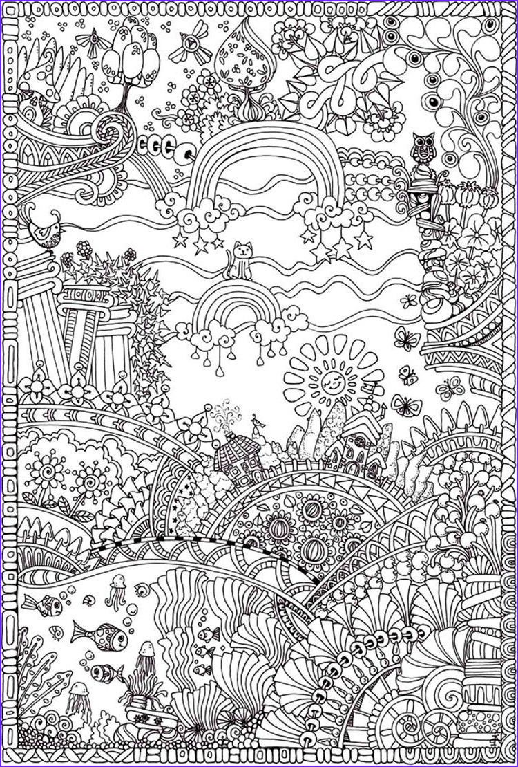 Intricate Coloring Book Beautiful Photography Insanely Intricate Entangled Landscapes Coloring Page3
