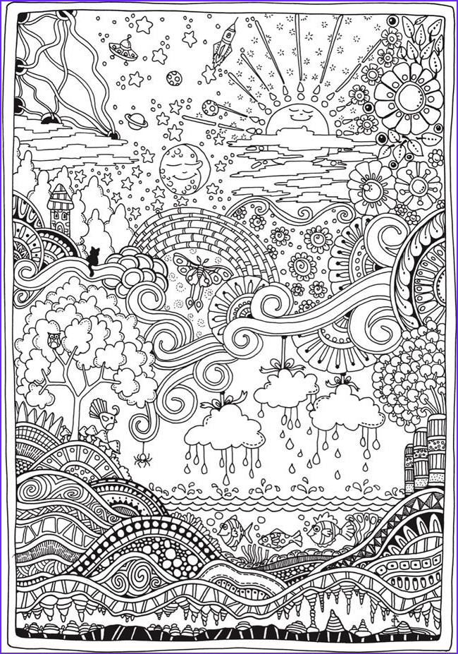 Intricate Coloring Book Beautiful Photos Creative Haven Insanely Intricate Entangled Landscapes
