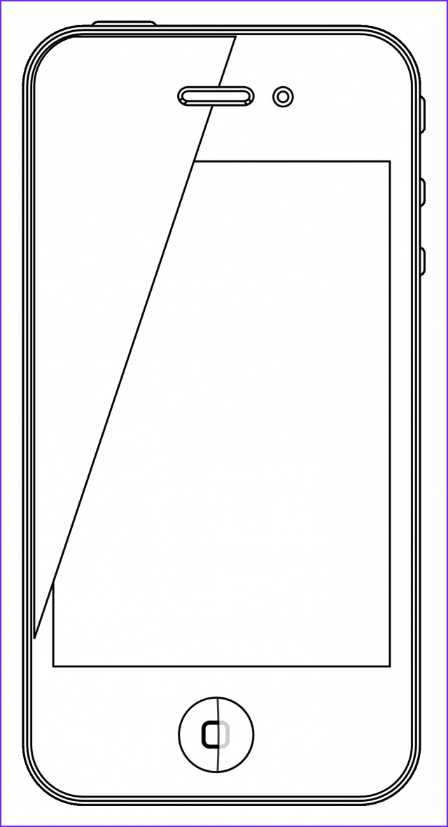 iPhone Coloring Pages Awesome Images iPhone Coloring Pages Clipart Best iPhone Coloring