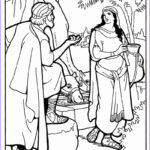 Isaac And Rebekah Coloring Pages Beautiful Image Abraham Finds A Wife For Isaac