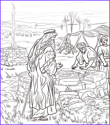 Isaac and Rebekah Coloring Pages Cool Stock isaac Digs A Well Coloring Page From isaac and Rebekah