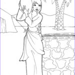 Isaac And Rebekah Coloring Pages Luxury Photos Rebekah Drawing Water Genesis 24 By Likesototally