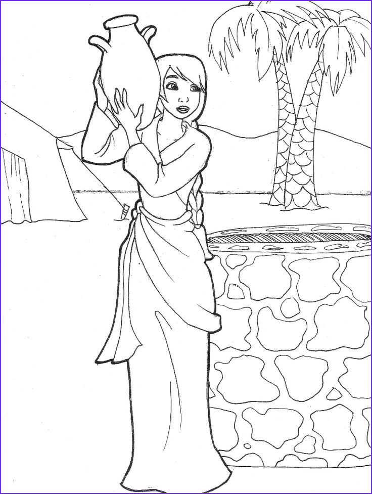 Isaac and Rebekah Coloring Pages New Gallery Rebekah Drawing Water Genesis 24 by Likesototally