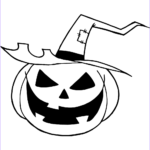 Jack O Lantern Coloring Pages Best Of Collection Scary Jack O Lantern With A Witch Hat Coloring Page