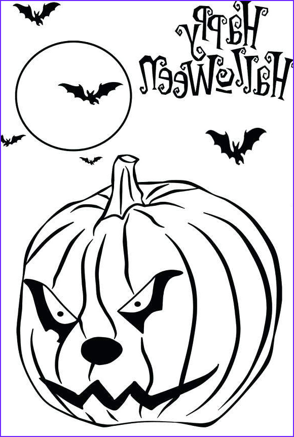 bats and jack o lantern coloring pages