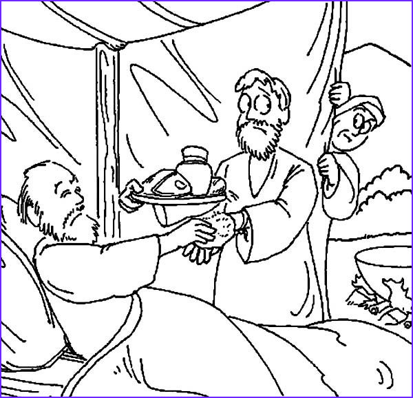 Jacob And Esau Coloring Pages Awesome Photography Jacob Bring Food To Isaac In In Jacob And Esau Coloring