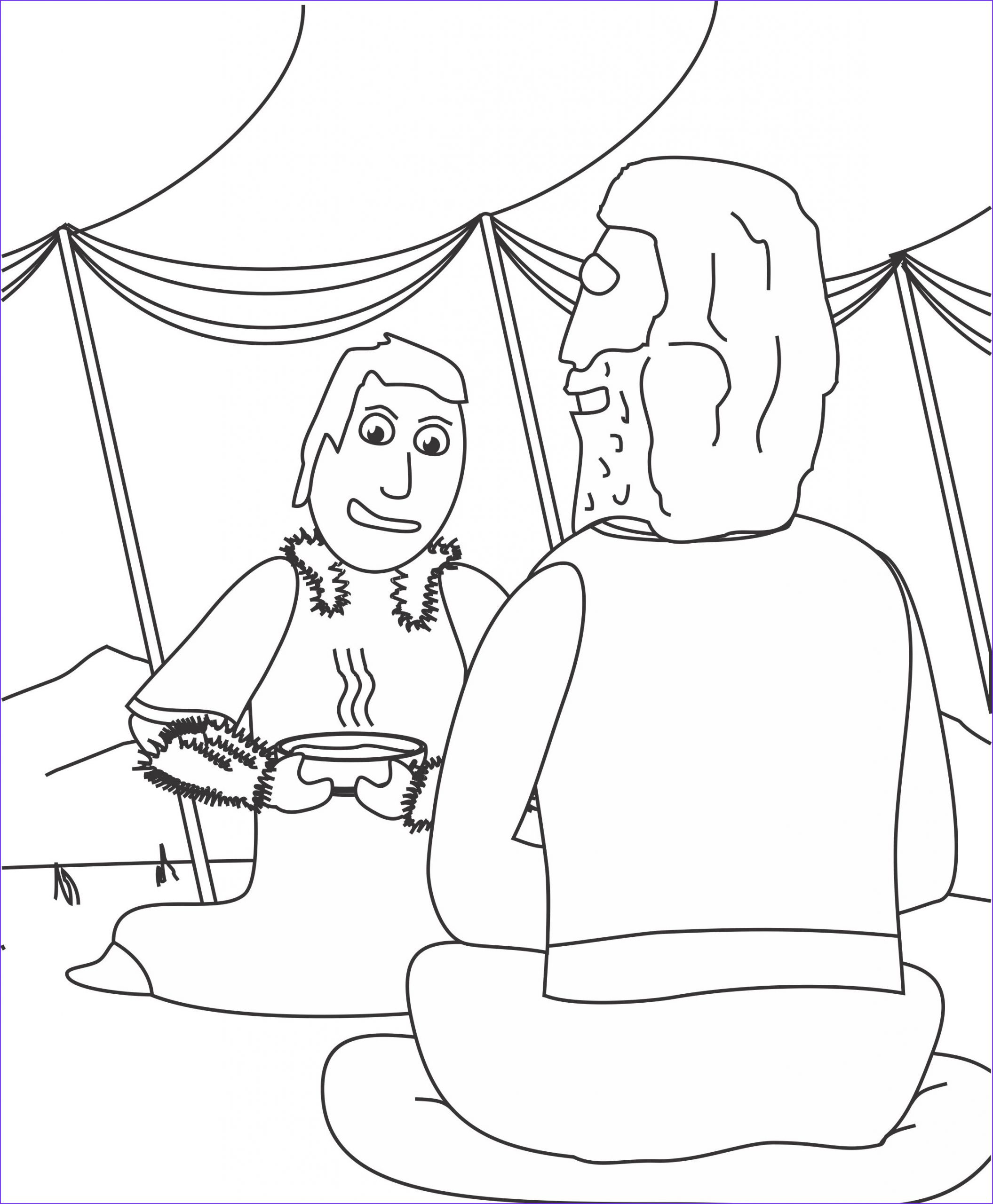 Jacob And Esau Coloring Pages Beautiful Stock Jacob And Esau Coloring Page