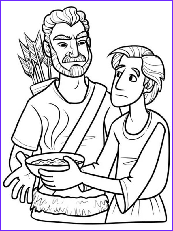 Jacob And Esau Coloring Pages New Photos Esau Excange His Birth Right For A Bowl Of Stew In Jacob