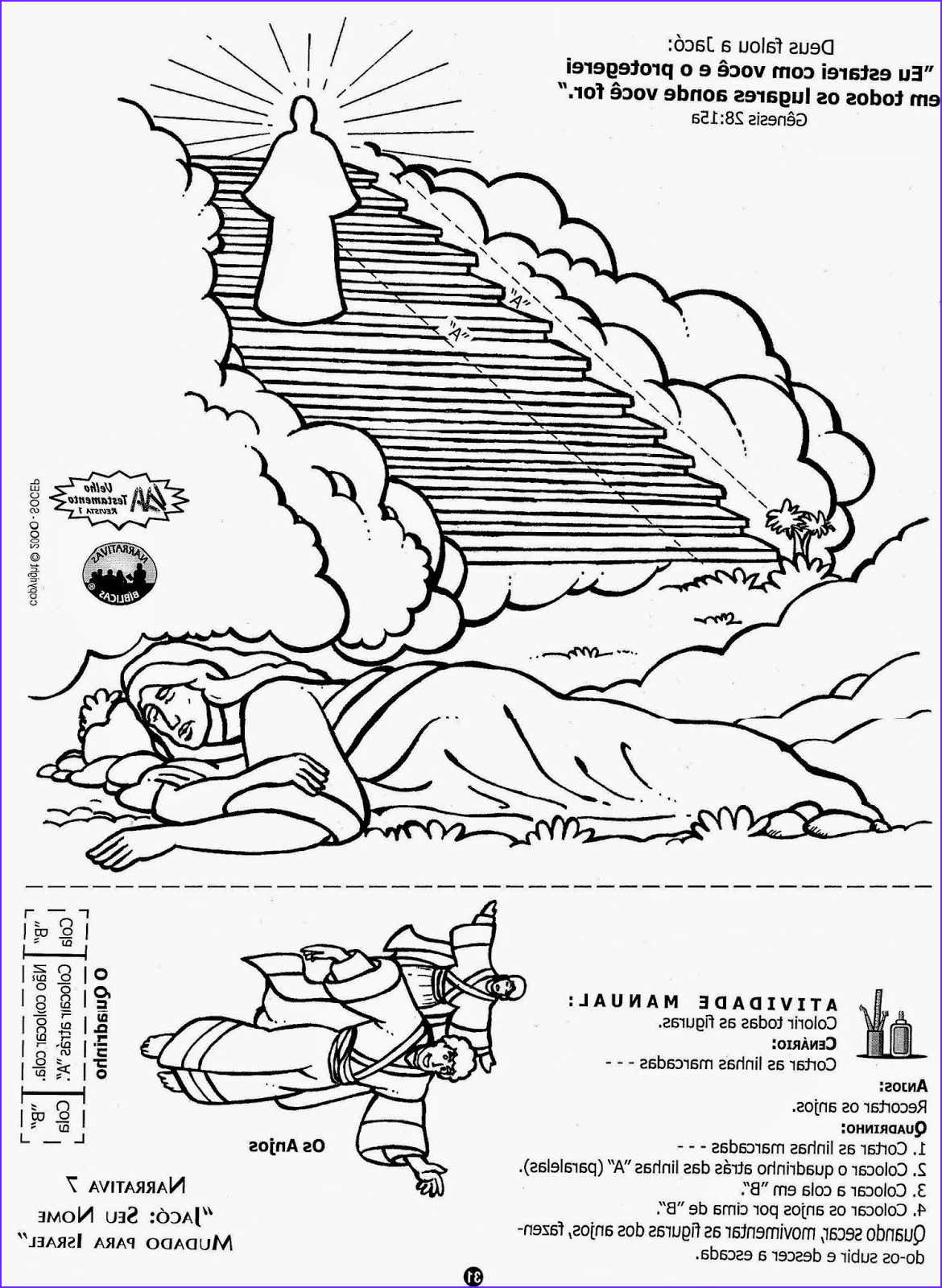 Jacob's Ladder Coloring Page Awesome Stock Jacob Ladder Coloring Page Sundayschoolist