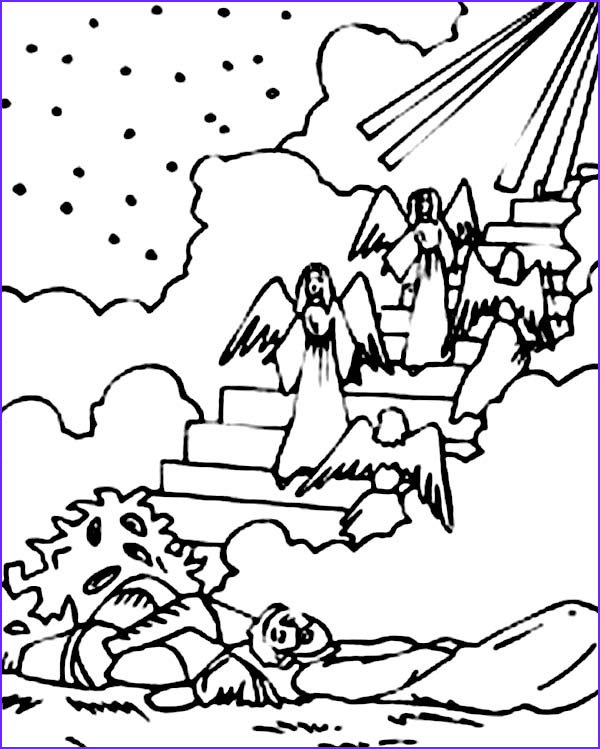 Jacob's Ladder Coloring Page Beautiful Stock Depiction Of Jacobs Ladder In Jacob and Esau Coloring Page