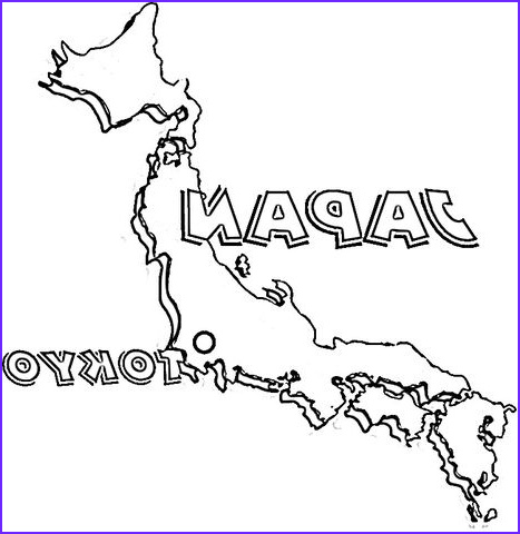 Japan Coloring Book Awesome Images Map Japan Coloring Page From Japan Category Select
