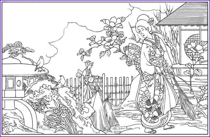 Japanese Coloring Pages Beautiful Photos Japanese Coloring Books for Adults Cleverpedia