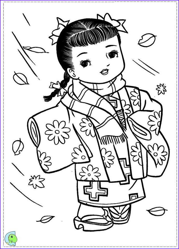 Japanese Coloring Pages Best Of Image Japan Girls Day Images