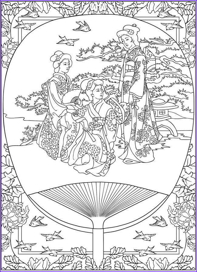 Japanese Coloring Pages Inspirational Image Life In Japan Tradition Japan Adult Coloring Pages