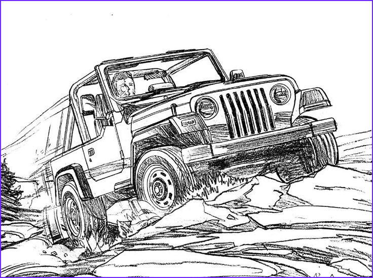 jeep coloring