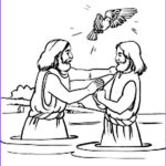 Jesus Baptism Coloring Page Beautiful Gallery Holy Spirit Blessing Jesus Baptism In John The Baptist