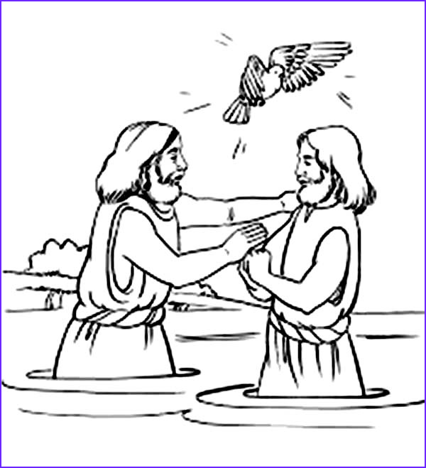 holy spirit blessing jesus baptism in john the baptist coloring page
